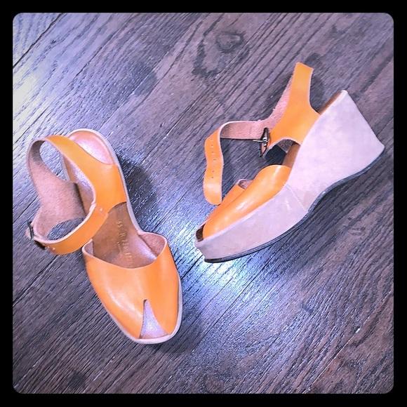 Vintage 7s Platform Wedge Sandals